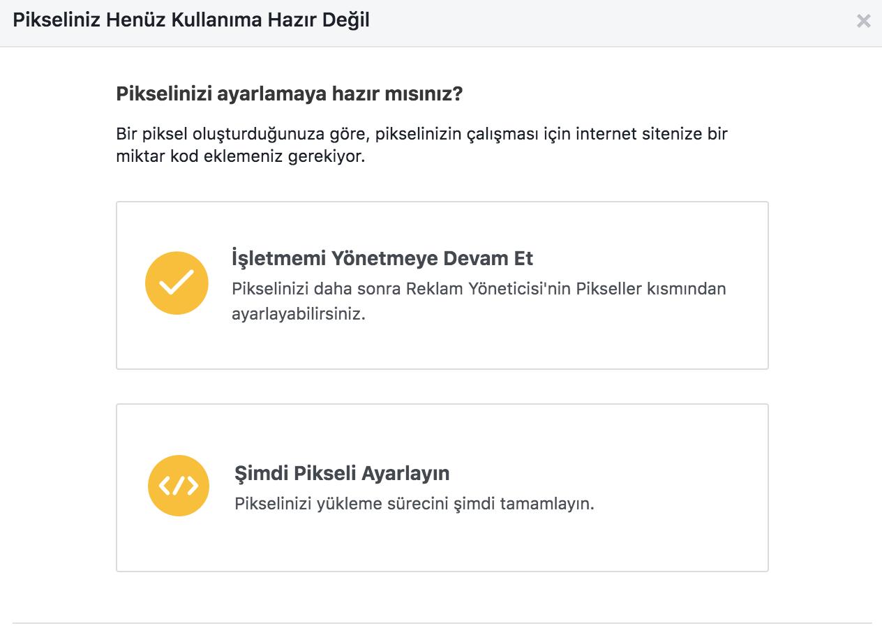 facebook pixel ayarlama