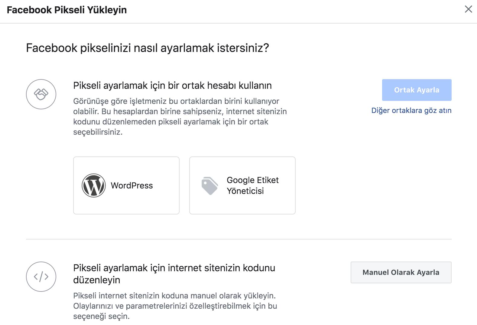 facebook pixel entegrasyonu