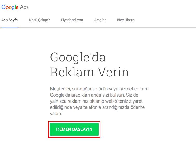 google-ads-hesap-olusturma