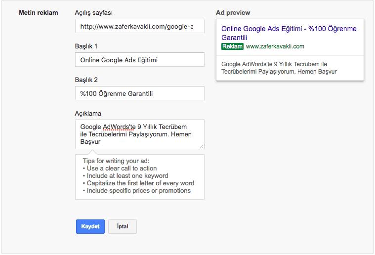 google-ads-ilk-kampanya-reklam-ekleme