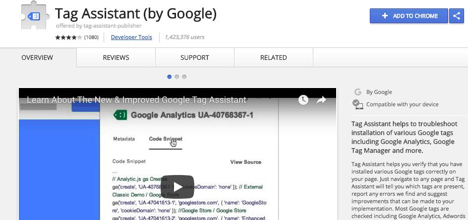 google tag assistant 1