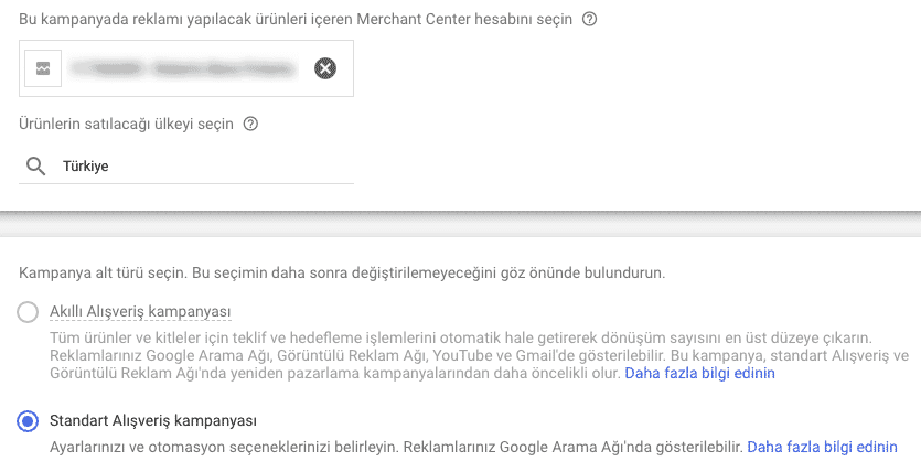 google alışveriş reklamı oluşturma